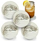 Drink Coasters by McCarter Coasters, Bass, Absorbent, Light Beige 4.25 inch (4pc)