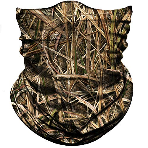 e Mask for Hunting, Sun Dust Wind Protection Durable Camo Headband for Men Women, Seamless Lightweight Thin Breathable Mask for Outdoor Sports (Camo Withered Grass Light Brown) ()