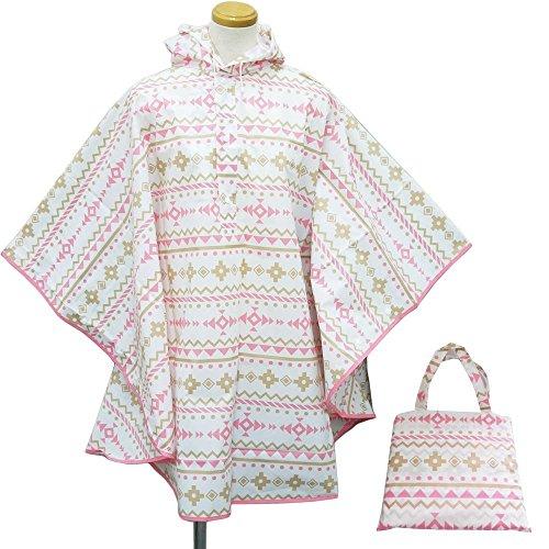Raincoat Ladies Les Festival Classic Kappa Raincoat Rainwear Raincoat rain Poncho 9523 98761. Kilim Light Pink ()