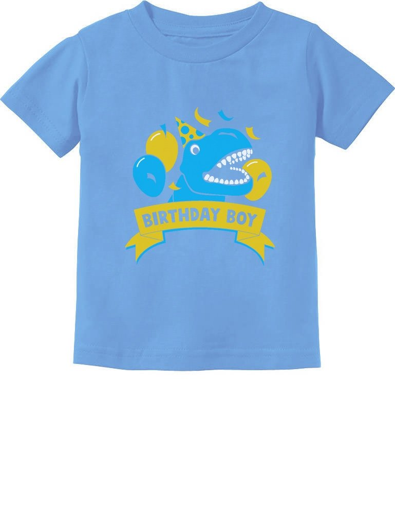 Gift for Birthday Boy Dinosaur Raptor T-Rex Boy Toddler/Infant Kids T-Shirt GhPhh3Mgm5