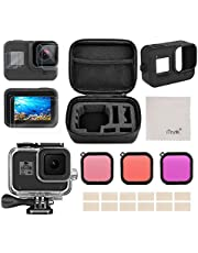 Kit di Accessori per GoPro Hero 8 Black Accessori, iTrunk 24 in 1 cover in silicone pellicola di protezione filtro rosso custodia impermeabile per GoPro Hero 8 Nero Black
