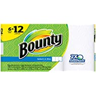 Bounty Select-a-Size Paper Towels, White, Double Roll...