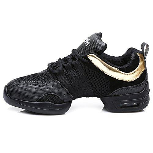 Black Modern Boost 2 gold and Leather HIPPOSEUS Women's Jazz Men Soft Dance Sport Model Sneaker Sneaker B5 Mesh txZqwYTq