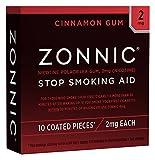 ZONNIC Nicotine Gum 2mg Cinnamon -10 Count - Quit