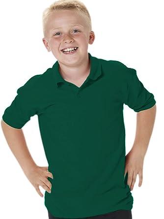 Jerzees - Polo - para niño Verde Verde Oscuro 4 años: Amazon.es ...