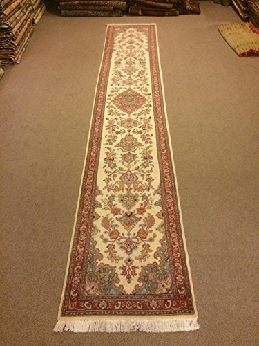 2.8x16.2 Feet White And Beige Long And Narrow Handmade Rug Runner Aisle Rug Corridor Rug Hallway Rug Runner.Code:P479