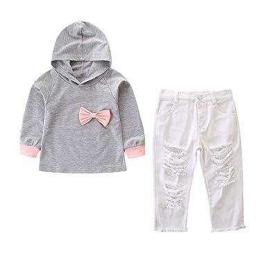 Wang-RX Conjunto de Sudadera con Capucha Ropa para bebés Ropa para ...