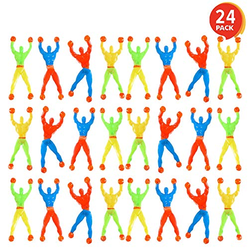 ArtCreativity Colorful Sticky Wall Climbers (Pack of 24) | Mountain Climber Figures | Sticky, Slimy, and Rubbery Novelties | Fun Gift for Kids Ages -