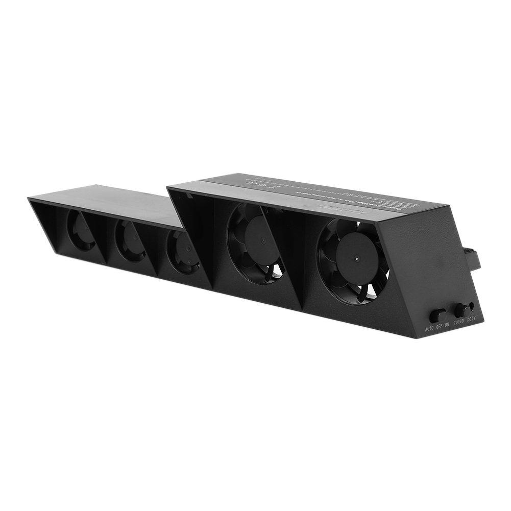YuanZhen PS4 Ventilateur Universel pour Jeux Turbo Externe USB Super Temp/érature Refroidissement pour PS4 Normal Noir Longueur de Ligne 1,8 m