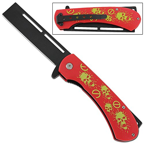 No Zombie Zone Folding Apocaylpse Razor Pocket Knife