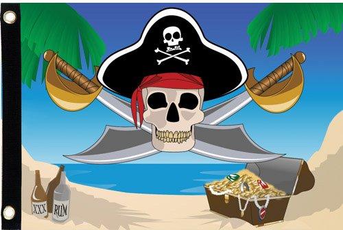 Premier Kites 55104 Seafarer Flag, Treasure Hunt, 12 by 17-Inch -