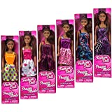 "African-American Fashion Doll, 11"" & 5"" (Set of 2 with Different Clothes, one 11"" & one 5"") Girls, Unisex-Children, Indoor Fun, Ages 3+, Great Gifts, Bonus: Fashion Accessories, Owl Lip Gloss"