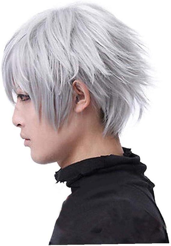 Tokio Ghoul Ken Kaneki recta corta peluca para los hombres ...