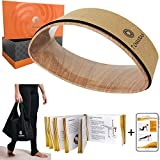 7 Chakras Double Radian Yoga Wheel Set | Separate 2 Pack 8 ft Yoga Belt & 10 ft Stretchout Strap with Loops Available | Yoga Gift Box Set | Exercise Stretching Guide