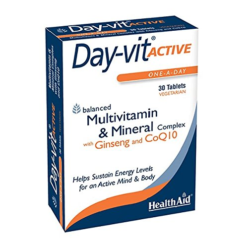 Blister 30 Pack Tablets (Health Aid Day-vit ACTIVE (MVM with Ginseng & CoQ10) - Blister Pack 30 Tablets)