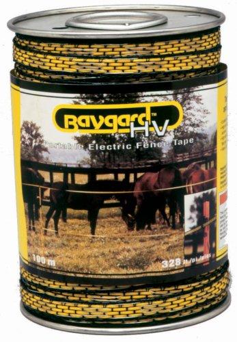 Baygard Electric Fence Yellow/Black Tape - 328 Feet 00171