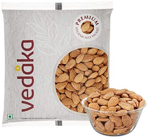 Amazon Brand – Vedaka Premium Roasted and Salted Almonds, 100g
