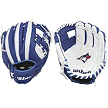 "Wilson A200 MLB Toronto Blue Jays Team Tee Ball Glove, 10"", Blue"