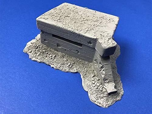 (German WW2 Machine Gun Bunker for 1/35 Diorama (True Details 35004))