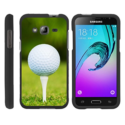 Samsung Galaxy J3 Case   Amp Prime   Express Prime   Galaxy Sol  Slim Duo  Fitted 2 Piece Hard Snap On Case On Black Sports And Games Design By Turtlearmor   Golf Ball Tee