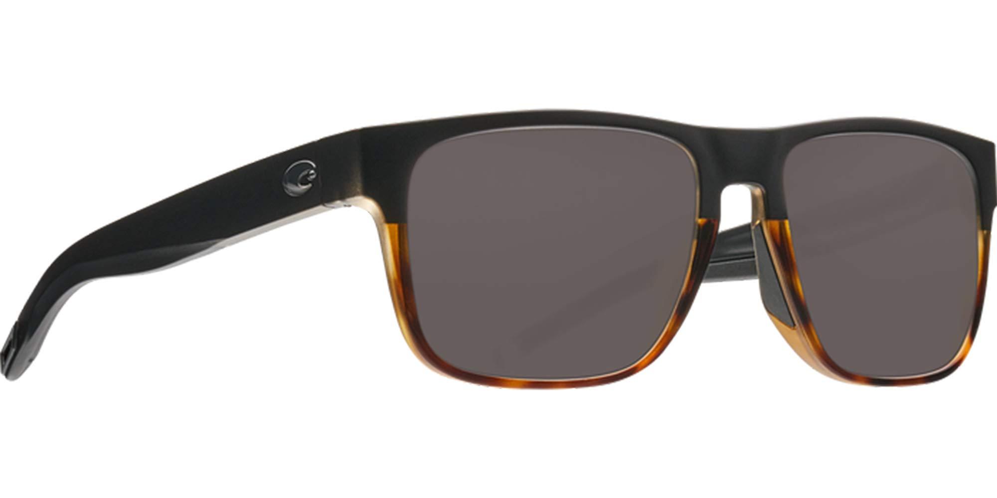 Costa Del Mar Spearo Sunglasses Matte Black Shiny Tortoise/Gray 580Glass by Costa Del Mar
