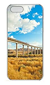 iPhone 5 5S Case Blue Sky And White Clouds PC Custom iPhone 5 5S Case Cover Transparent