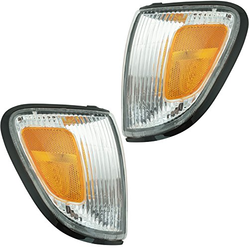 Side Marker Parking Turn Signal Corner Lights Pair Set for 97-00 Tacoma Pickup ()