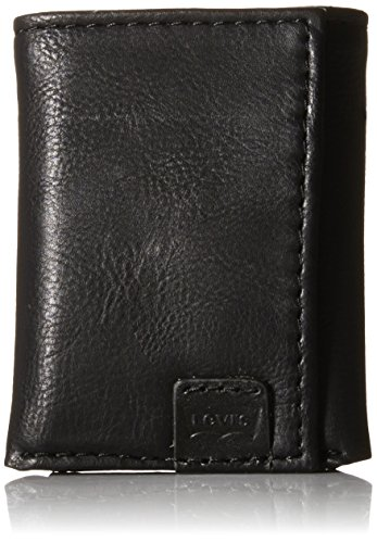 Levis Mens Trifold Wallet Batwing