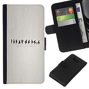 All Phone Most Case / Oferta Especial Cáscara Funda de cuero Monedero Cubierta de proteccion Caso / Wallet Case for Samsung ALPHA G850 // Ministry of Silly Walks