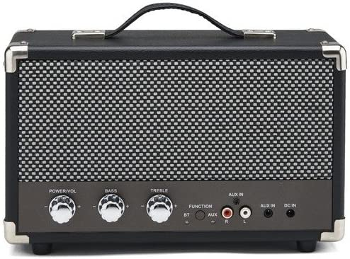 Bluetooth with Retro Grille and Carry Handle Black RCA Input GPO Westwood Retro 25 Watt Speaker with Subwoofer