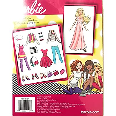 Barbie Magnetic Wooden Dress-Up Set: Toys & Games
