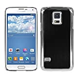kwmobile Premium hard case for Samsung Galaxy S5 Mini with reinforced back of brushed aluminium in black