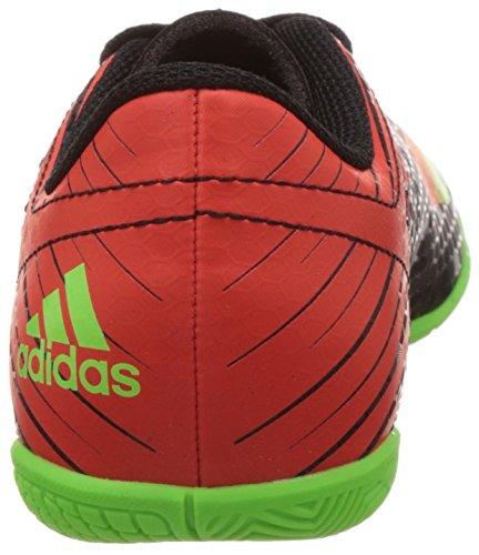 Adidas Messi 15.4 In J, Botas de Fútbol Unisex Bebé Negro / Verde / Rojo (Negbas / Versol / Rojsol)