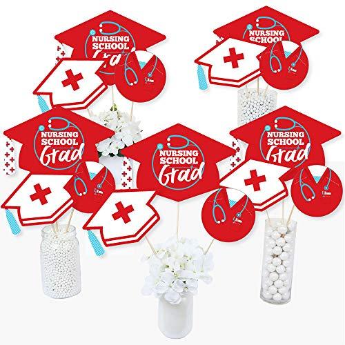 Nurse Graduation - Medical Nursing Graduation Party Centerpiece Sticks - Table Toppers - Set of -