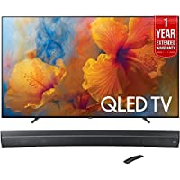 Samsung QN75Q9 75-Inch 4K Ultra HD Smart QLED TV (2017 Model) + HW-MS6500/ZA Sound+ Curved Premium Soundbar + 1 Year Extended Warranty