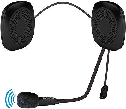 Auriculares Bluetooth para Casco, Casco con Bluetooth, Altavoces, intercomunicador de Auriculares, Cascos inalámbricos con Sistema de Sonido de micrófono para Moto y esquí: Amazon.es: Electrónica