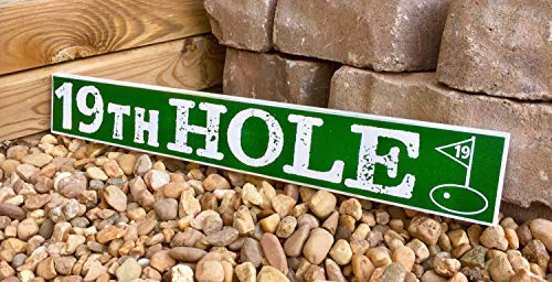 Iliogine Home Decorative Wood Sign 19Th Hole Sign Golf Sign The 19Th Hole Pub Sign Home Bar Sign Man Cave Decor Bar Decor Beer Sign Hand Printed Plaque with Sayings 19th Hole Golf Sign