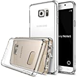 Ringke [FUSION] Galaxy Note 5 Case Crystal Clear PC Back TPU Bumper w/ Screen Protector [Drop Protection/Shock Absorption Technology][Attached Dust Cap] For Samsung Galaxy Note 5 - Clear