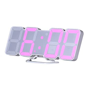 EAAGD 3D digital control remoto inalámbrico despertador Reloj de pared - LED digital 115 variaciones colores