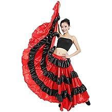 Dreamowl Belly Dance Skirt 360 Degree Circle Costume Spanish Dances Bull Skirt Flamenco