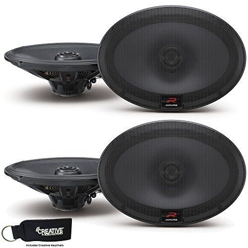 Alpine R-S69 Bundle - Two pairs of R-S69 6x9 Inch Coaxial 2-Way Speakers