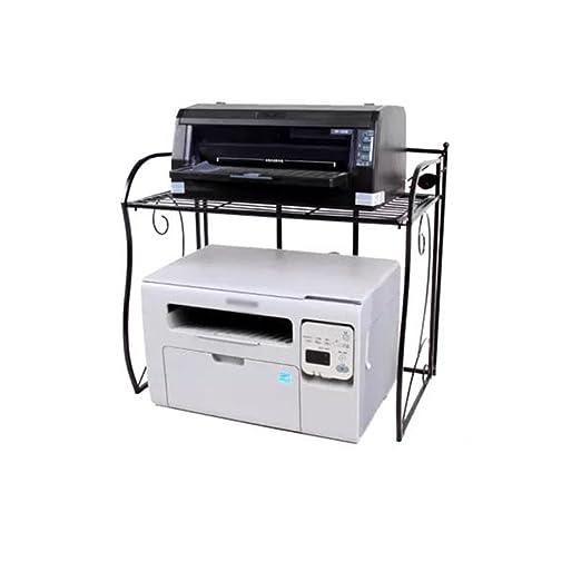 Estante plegable multifunción para impresora de 2 niveles ...