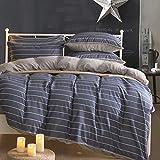 High class cotton flannel comforter set stripe lattice design modern bedding sheets duvet cover multi color -N King
