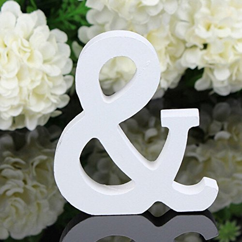 Norbi Wooden Alphabet Letters Hanging Wall 26 Letters for Wedding Brithday Party Children Education Nursery Home Decoration (A) 8cm/3.15