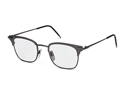 8e819e42faf4 Image Unavailable. Image not available for. Color  THOM BROWNE TB 102 B-BLK Black  Iron Eyeglasses