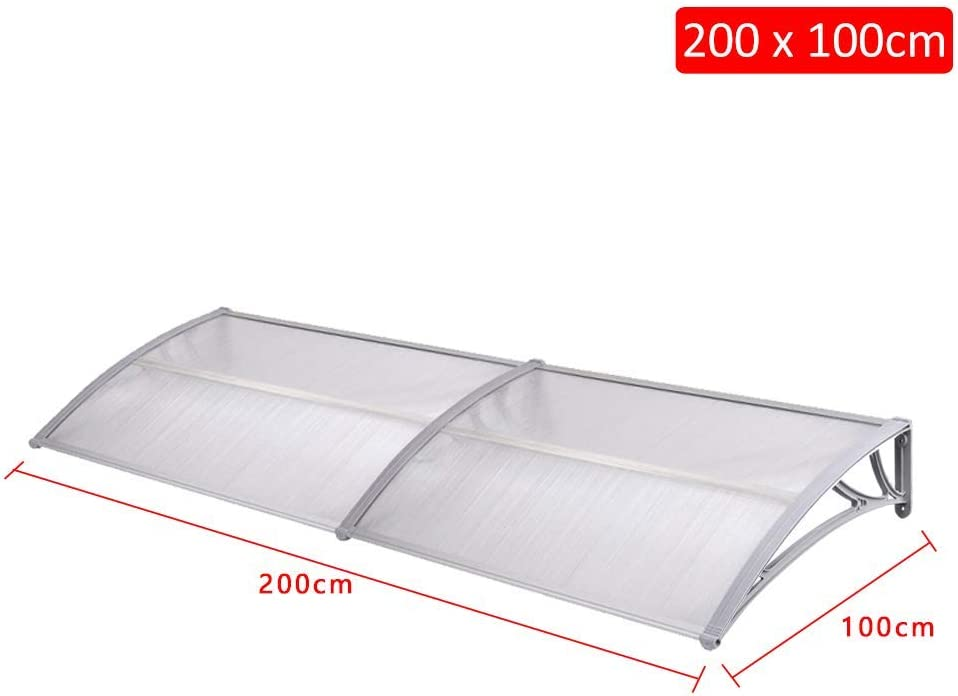 UISEBRT transparente policarbonato Pultvordach cubierta 5 mm Marquesina para puerta