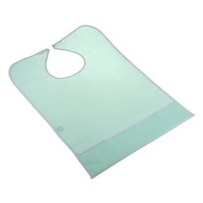 MagiDeal Bavoir Imperméable Anti-huile Antisalissure Aide aux Repas Protecteur Pour Adulte Handicapé - Vert clair, 76 x 47cm