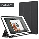 iVAPO iPad Pro 9.7 Case with Built-in Apple Pencil Holder Auto Sleep/Wake Function Typing and Viewing Stand PU Leather Folio Case for iPad Pro 9.7 inch iPad Air 2 - Black