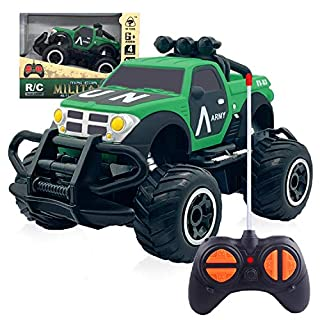Electric RC Car Toy for Boys & Girls 3-5 Years Old, 4 Year Old Boys Gifts for Christmas New Year Hi-Speed Racing Car for Kids Age 6 Remote SUV Car Toy for Boys 7-8 Years Old Pick up Green