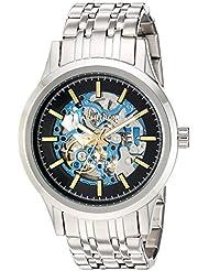 Armitron Mens 20/5170BLSV Automatic Silver-Tone Bracelet Watch